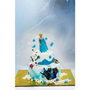 """Торта """"Леденото кралство"""" на два етажа"""