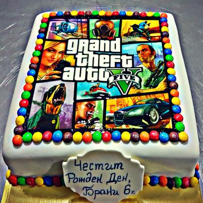 """Торта """"Grand Theft Auto"""""""
