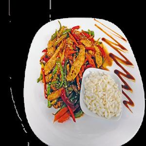 """Пиле със зеленчуци """"Сепуко"""" 0.300кг"""