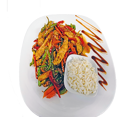Пиле със зеленчуци Сепуко