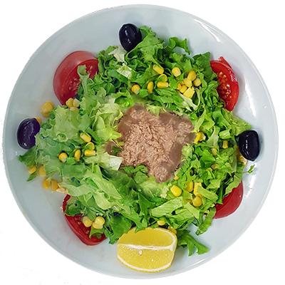 Зелена салата с риба тон