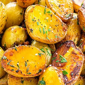 Печен картоф с билково масълце