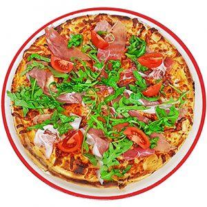 Пица с прошуто и рукола 0.500кг