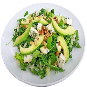 Микс от салати със синьо сирене, авокадо и орехи 0.300кг